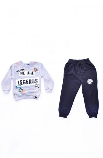 Kids Suit A8148-01 Gray 8148-01