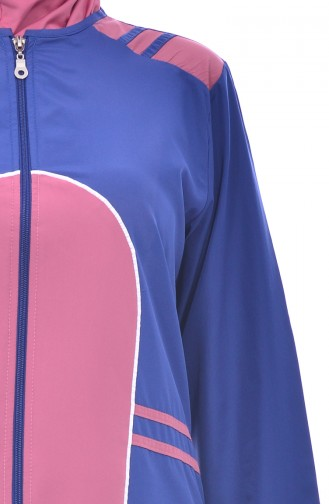 ملابس للسباحة 1150-04 لون نيلي ووردي باهت 1150-04