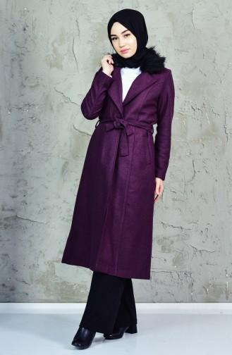 Furry Wool Cape 5406-02 Purple 5406-02