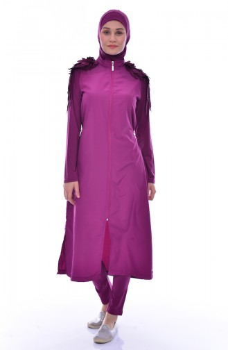 Damson Swimsuit Hijab 307-02