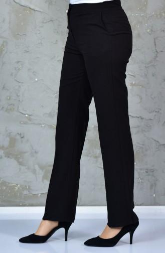 Pocket Straight Trousers 2062-01 Black 2062-01