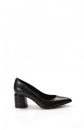 Fast Step Heeled Shoes 019Za9651 Black 019ZA9651-16777229