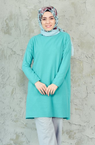 Slit Tunic 0726-05 Light Green 0726-05