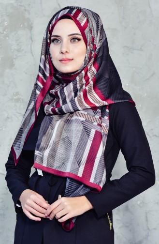 Karaca Exclusive Şal Eşarp 90543-06 Bordo Kahve 90543-06