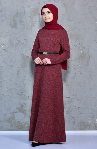 Claret red Dress 7128A-02