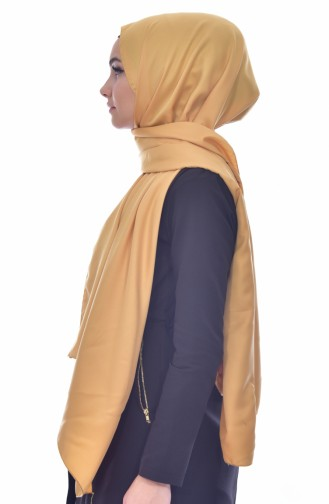 Plain Rayon Shawl 19043-04 Yellow 19043-04