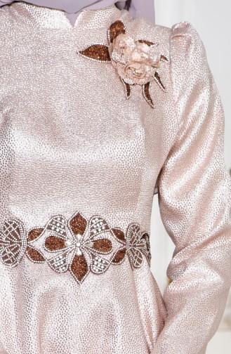 Robe de Soirée Perlées 8000-03 Poudre 8000-03