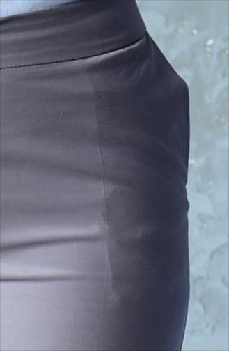 بنطال بتصميم قصة مستقية  20000-03 لون بني مائل للرمادي 20000-03