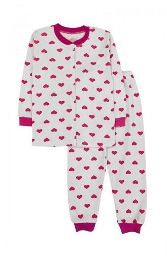 White Kids Pajamas 8515-01