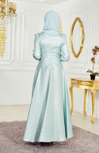Stone Evening Dress 8000-02 Water Green 8000-02