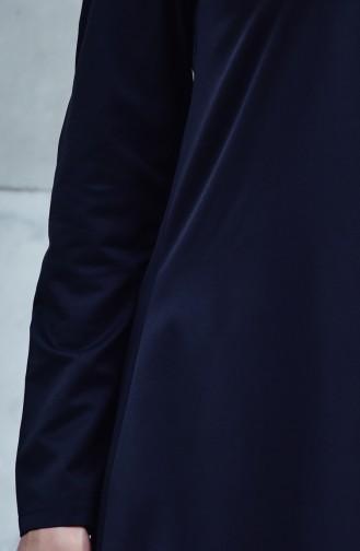 Şallı Yılan Desenli Tunik 2462-01 Gri