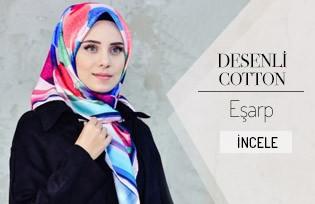 Geometrik Desenli Twill Eşarp 95230