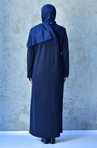 Navy Blue Abaya 0351-04
