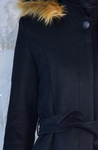 Cachet Fur Coat 1842A-01 Black 1842A-01