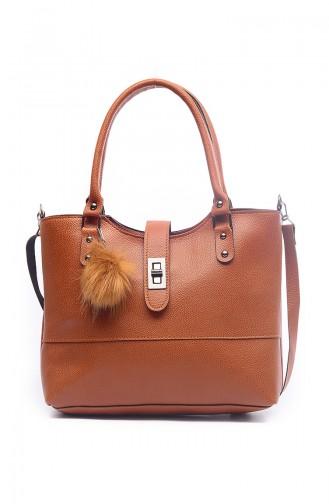 Tobacco Brown Shoulder Bag 1402-4