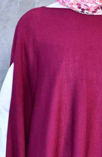 Knitwear Poncho 2002-17 Plum 2002-17