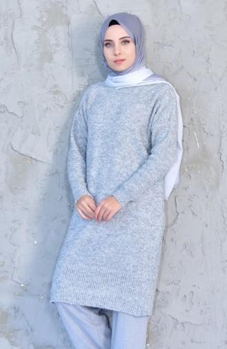 ايلميك تونيك بتصميم تريكو 4097-05 لون رمادي 4097-05