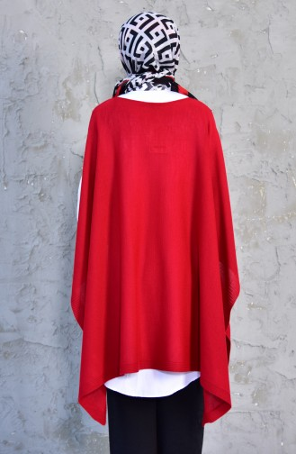 Knitwear Poncho 2002-16 Red 2002-16