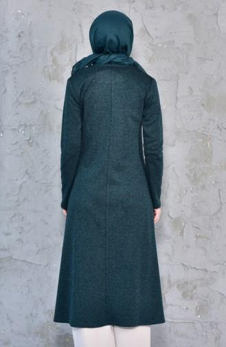 TUBANUR Zippered Tunic 2995-01 Emerald Green 2995-01