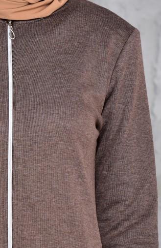 TUBANUR Zippered Tunic 2995-05 Mink 2995-05