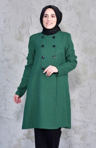 TUBANUR Pattern Fleece Cape 3038-01 Green 3038-01