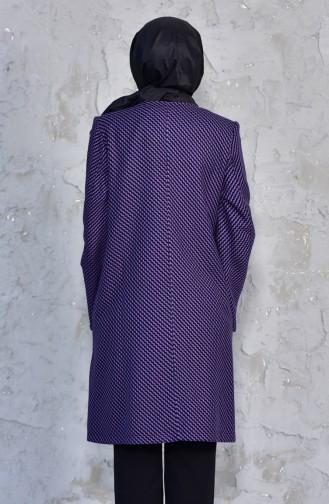 TUBANUR Pattern Fleece Cape 3038-04 Purple 3038-04