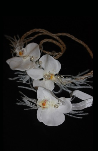White Mother and Baby Hair Accessory 8