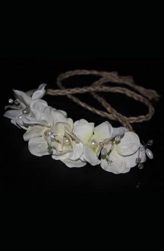 Ecru Bridal Hair Accessories 16
