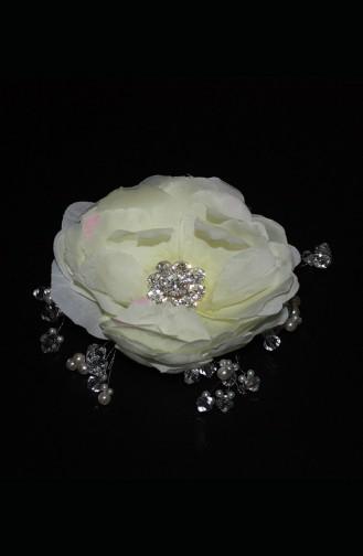 Cream Bridal Hair Accessories 1
