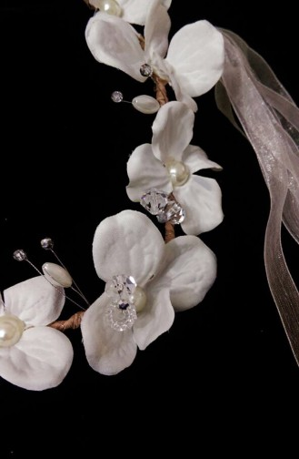Ecru Bridal Hair Accessories 20