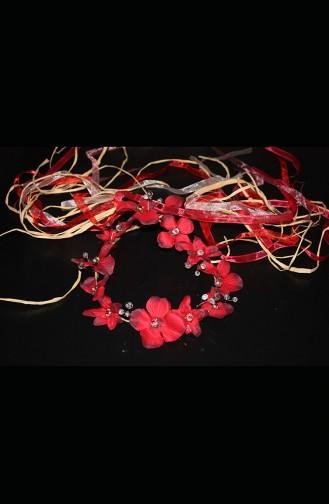 Claret red Bridal Hair Accessories 5