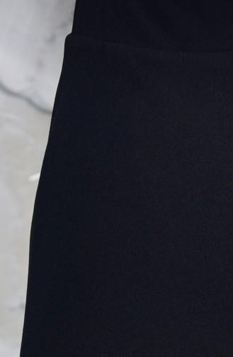 Beli Lastikli Kalem Etek 1033-05 Siyah 1033-05