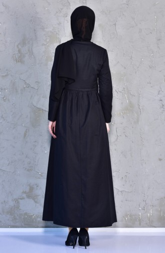 Ribbed Dress 7273-12 Black 7273-12
