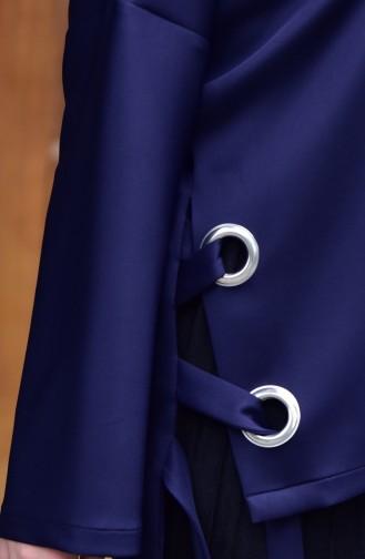 Navy Blue Blouse 4909-03