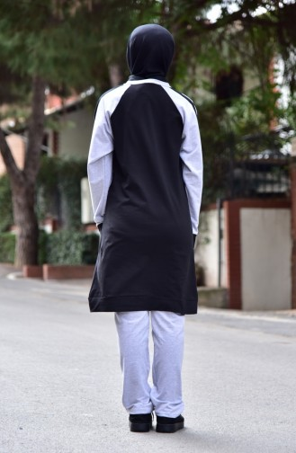 Eşofman Takım 18100-01 Siyah Gri 18100-01