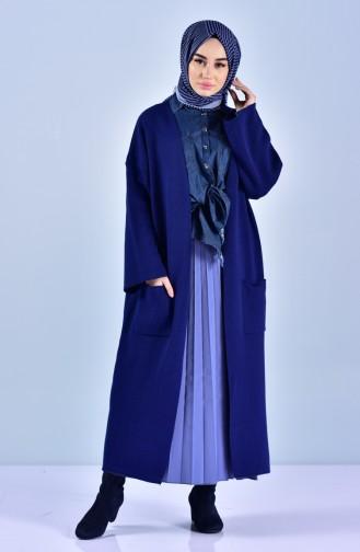 Gilet Tricot avec Poches 4100-04 Bleu Roi 4100-04