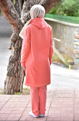 Hooded Tracksuit Suit 18061-04 Pomegranate flower 18061-04