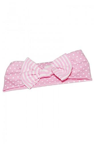 Kinder Bandana mit Fliege BB007 Pink Weiss 007