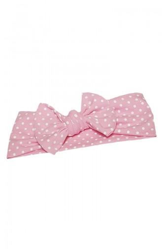 Kinder Bandana mit Fliege BB008 Pink Weiss 008