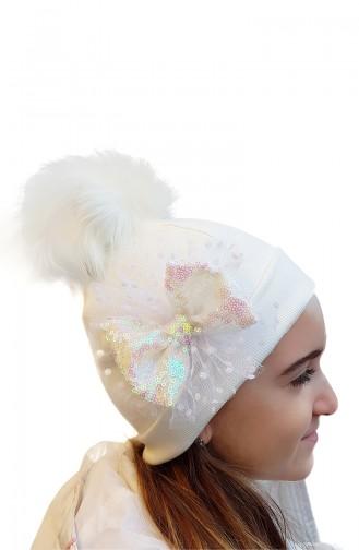 Cream Hat and bandana models 154