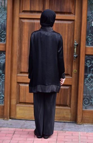 Jacquard Tunic Pants Double Suit 4910-01 Black 4910-01