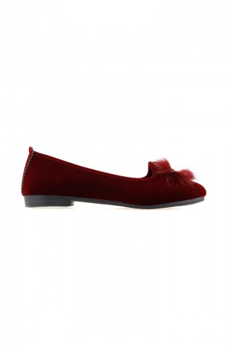 Claret red House Shoes 0108-03