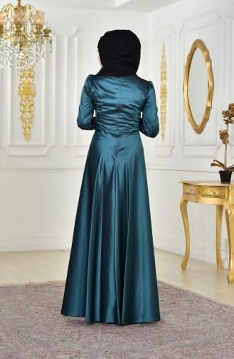 Sequined Evening Dress 0426-04 Green 0426-04