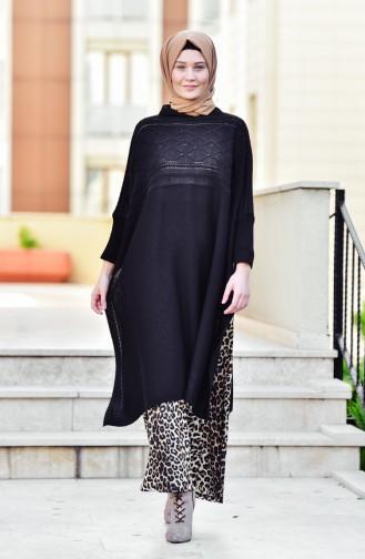 Knitwear Poncho 2202-03 Black 2202-03