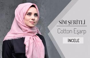 Sim Şeritli Cotton Eşarp 901404