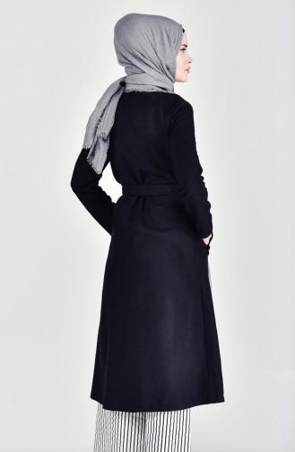 Belted Cachet Coat 1259-01 Black 1259-01