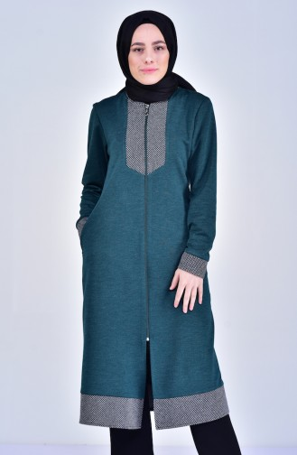 Garnished Cape 1615-03 Emerald Green 1615-03