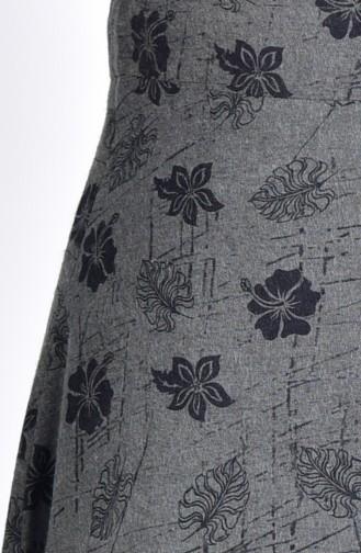 W.B Patterned Skirt 8904-03 Khaki 8904-03