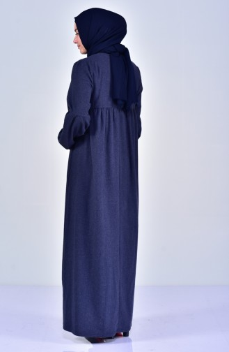 Robe Plissée Grande Taille 2029-04 İndigo 2029-04