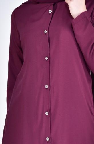 Tunik Pantolon İkili Takım 5002-02 Vişne 5002-02